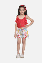 Load image into Gallery viewer, Fairies Forever Sleeveless Summer Dress Shorts-Red and White