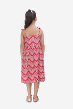Load image into Gallery viewer, Fairies-Forever-Zig-Zag-Dress-with-Pockets-Red