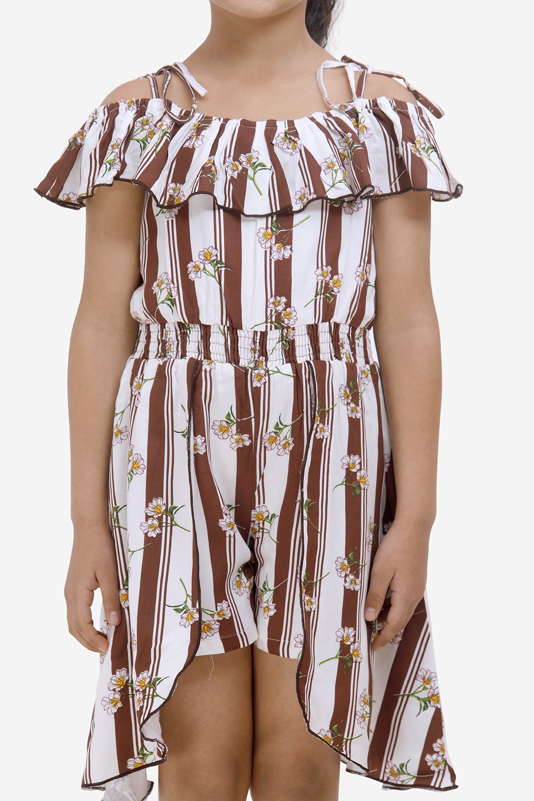 Cotton Skort Dress-Brown