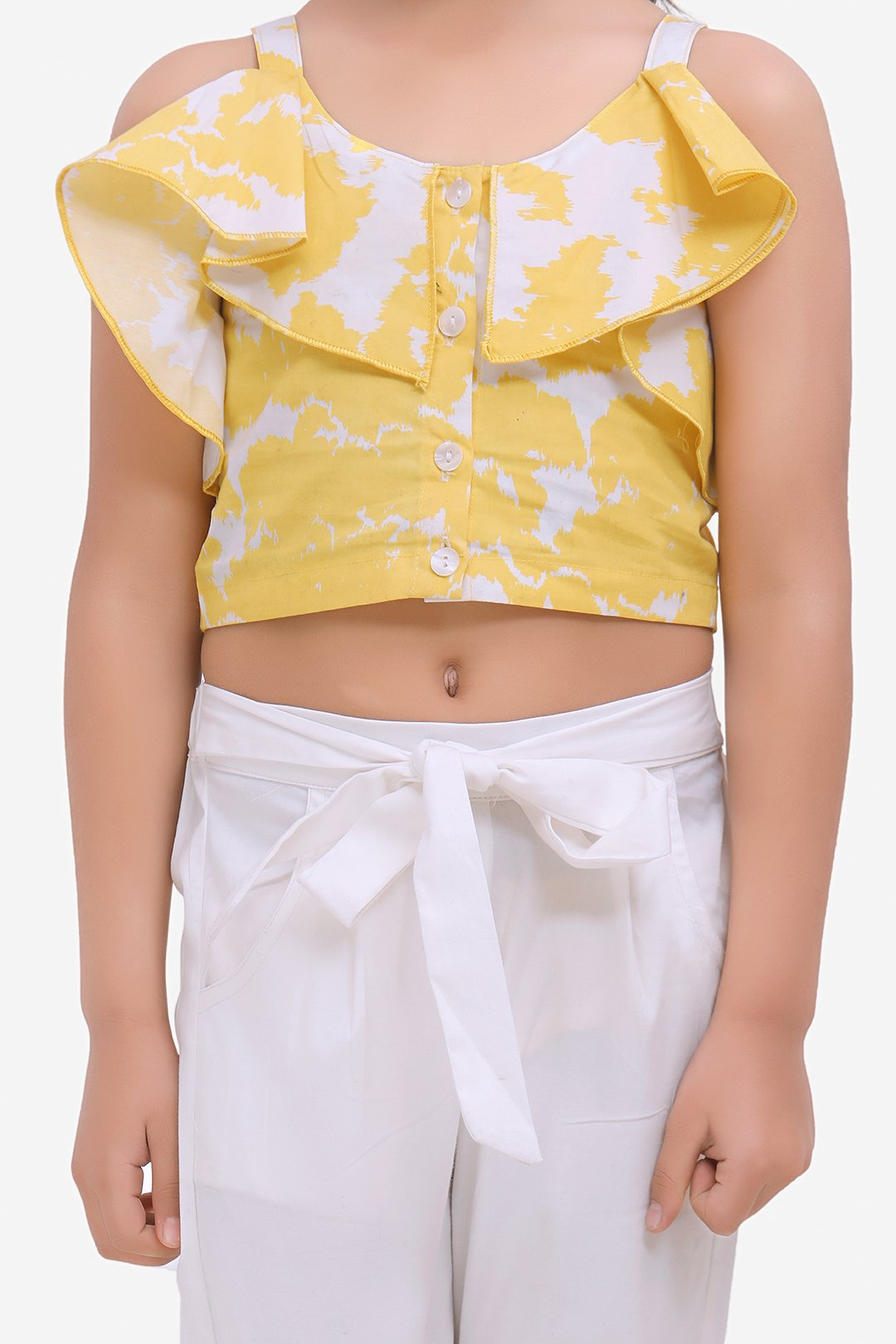 Fairies Forever Frill Top with Pants-Yellow and White