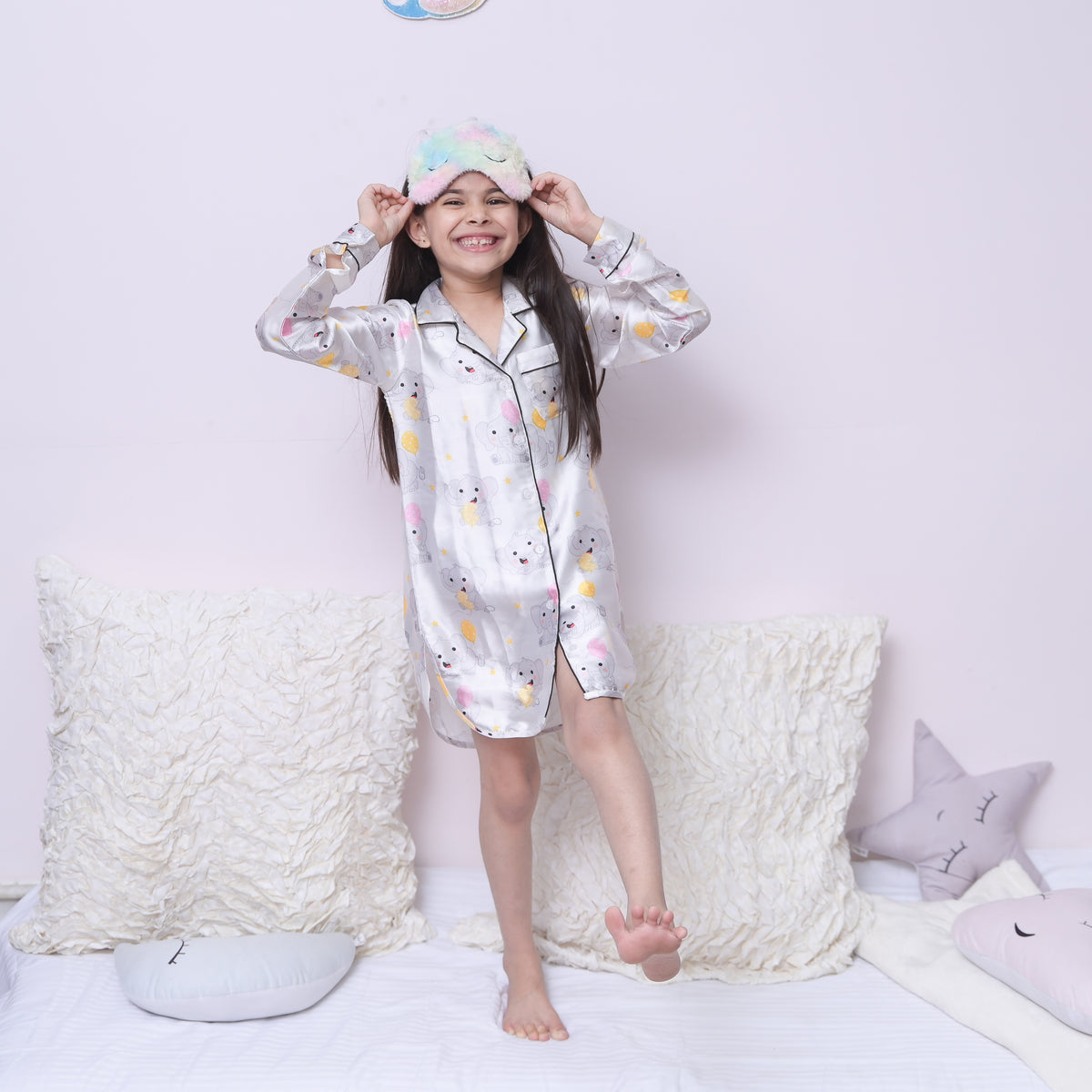 Elephant Print Night Dress