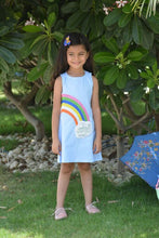 Load image into Gallery viewer, Rain bow printed Sleeveless Dress-Blue