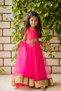 Fairies Forever Sleeveless Pink Net Gown