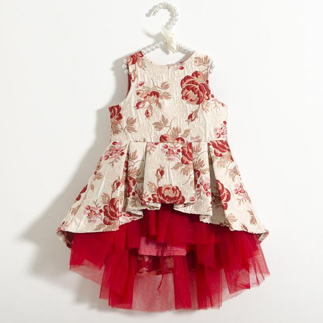 Fairies Forever Red Brocade Dress