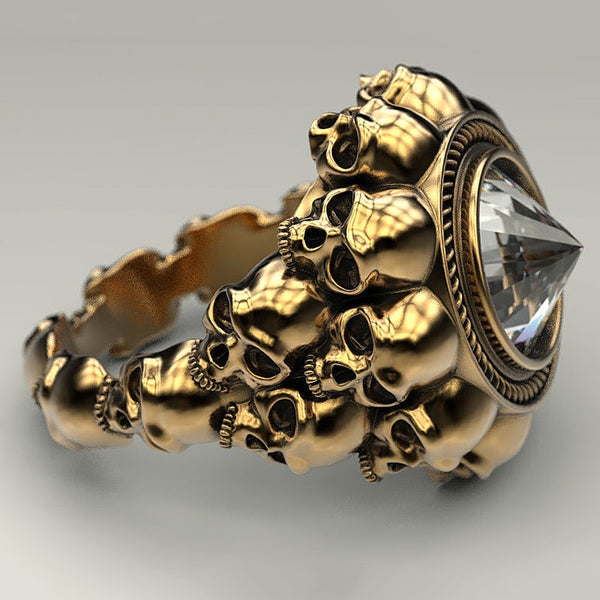 Men's Retro Skull Ring