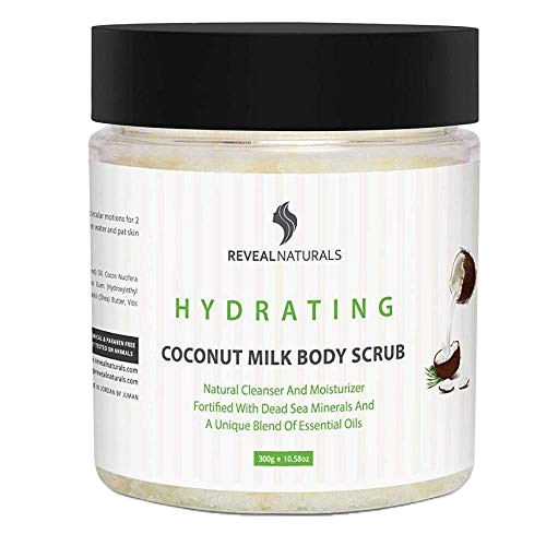 Coconut Scrub Infused with Dead Sea Salts and Minerals - Reveal Naturals