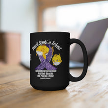 Load image into Gallery viewer, Pearl Spots a Friend MCAS 15oz Black Mug - ImagineWe Publishers