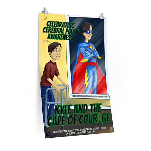 AUTOGRAPHED Kyle & the Cape of Courage Wall Poster - ImagineWe Publishers