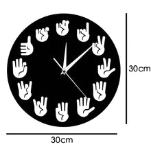 Load image into Gallery viewer, American Sign Language Wall Clock Unique Handmade ASL Clock Wall Decor Gift For Teacher Classroom Teaching Aid For Telling Time - ImagineWe Publishers