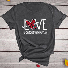 "Load image into Gallery viewer, ""LOVE Someone with Autism"" T-Shirt - ImagineWe Publishers"