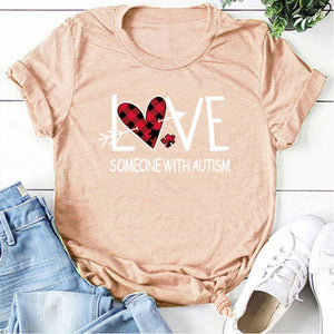 """LOVE Someone with Autism"" T-Shirt - ImagineWe Publishers"