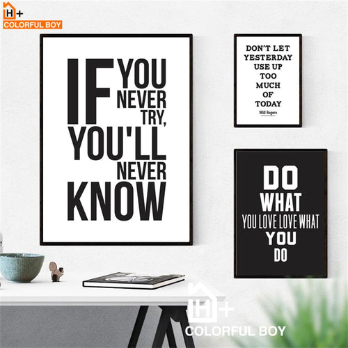 Assorted Black and White Motivational & Inspirational Wall Posters - ImagineWe Publishers