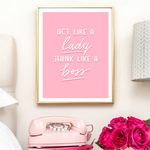 """Act Like a Lady..."" Wall Poster - ImagineWe Publishers"