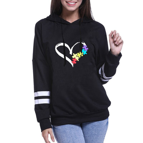 Autism Awareness Heart/Puzzle Hoodie - ImagineWe Publishers
