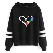 Load image into Gallery viewer, Autism Awareness Heart/Puzzle Hoodie - ImagineWe Publishers