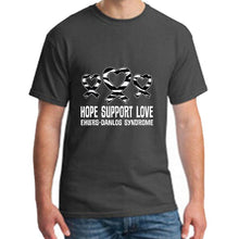 "Load image into Gallery viewer, ""Hope - Support - Love"" Ehlers-Danlos Syndrome T-Shirt - ImagineWe Publishers"
