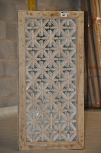 WOODEN JALI  PATTERN FRAME WITH MIRROR