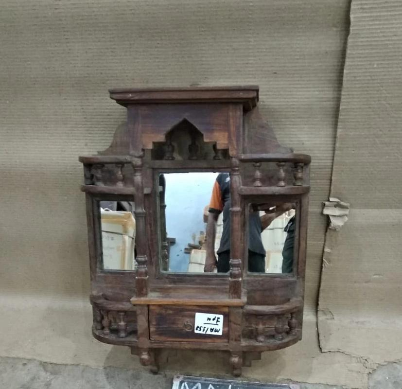 WOODEN MIRROR SMALL