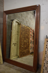 LARGE TEAK WOOD MIRROR FRAME