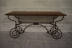 WOODEN IRON CONSOLE