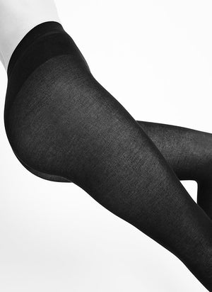 SWEDISH STOCKINGS - ALICE CASHMERE TIGHTS BLACK