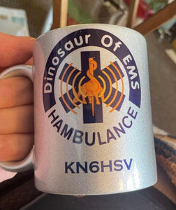 HAMBULANCE WITH CALL LETTERS MUG
