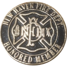 Load image into Gallery viewer, NHFD Screw Back Honored Member Medallion