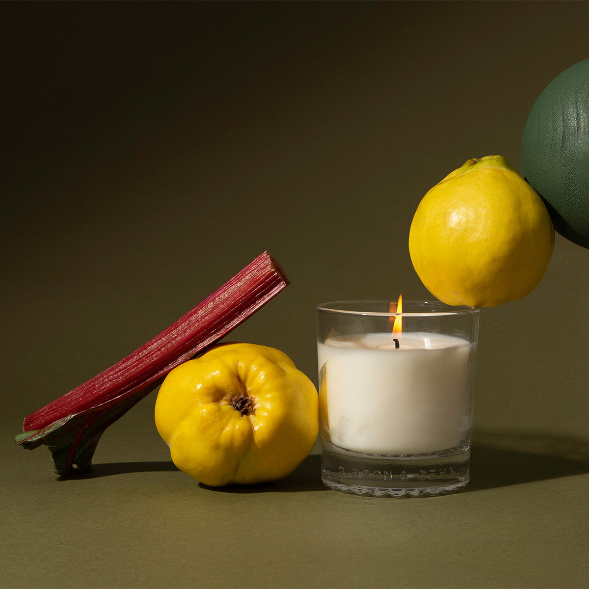 RHUBARB & QUINCE | Three Wick Candle