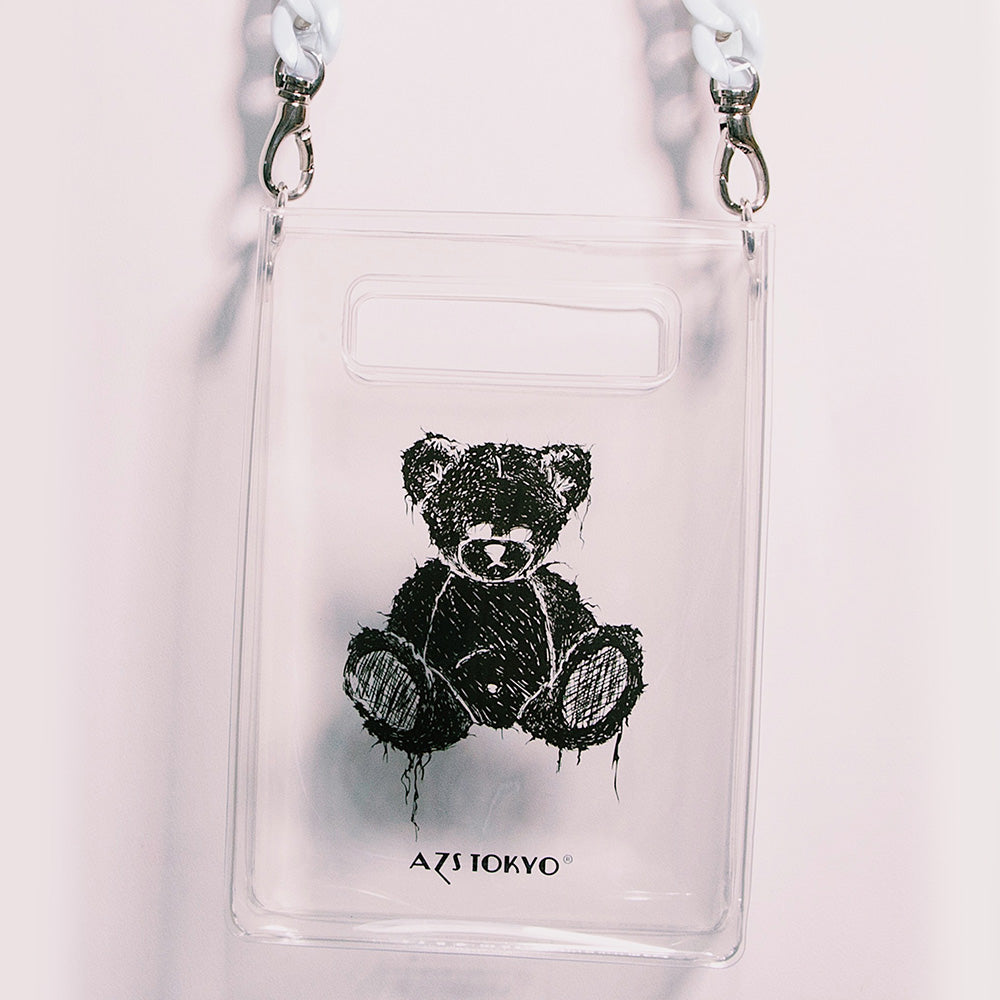 """SAD BEAR"" PVC CHAIN SHOULDER BAG"