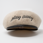 """STAY AWAY"" BERET (BEIGE)"