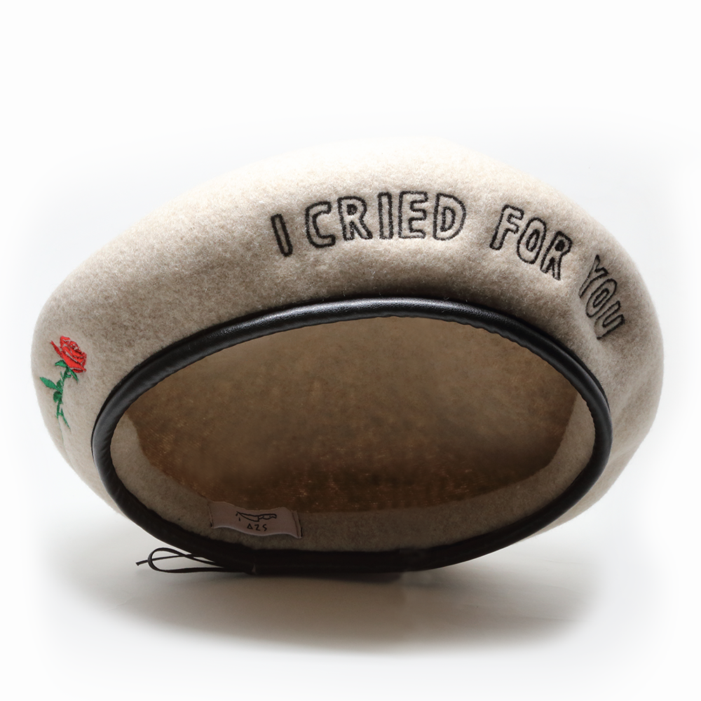 """I CRIED FOR YOU"" ROSE BERET(BEIGE)"