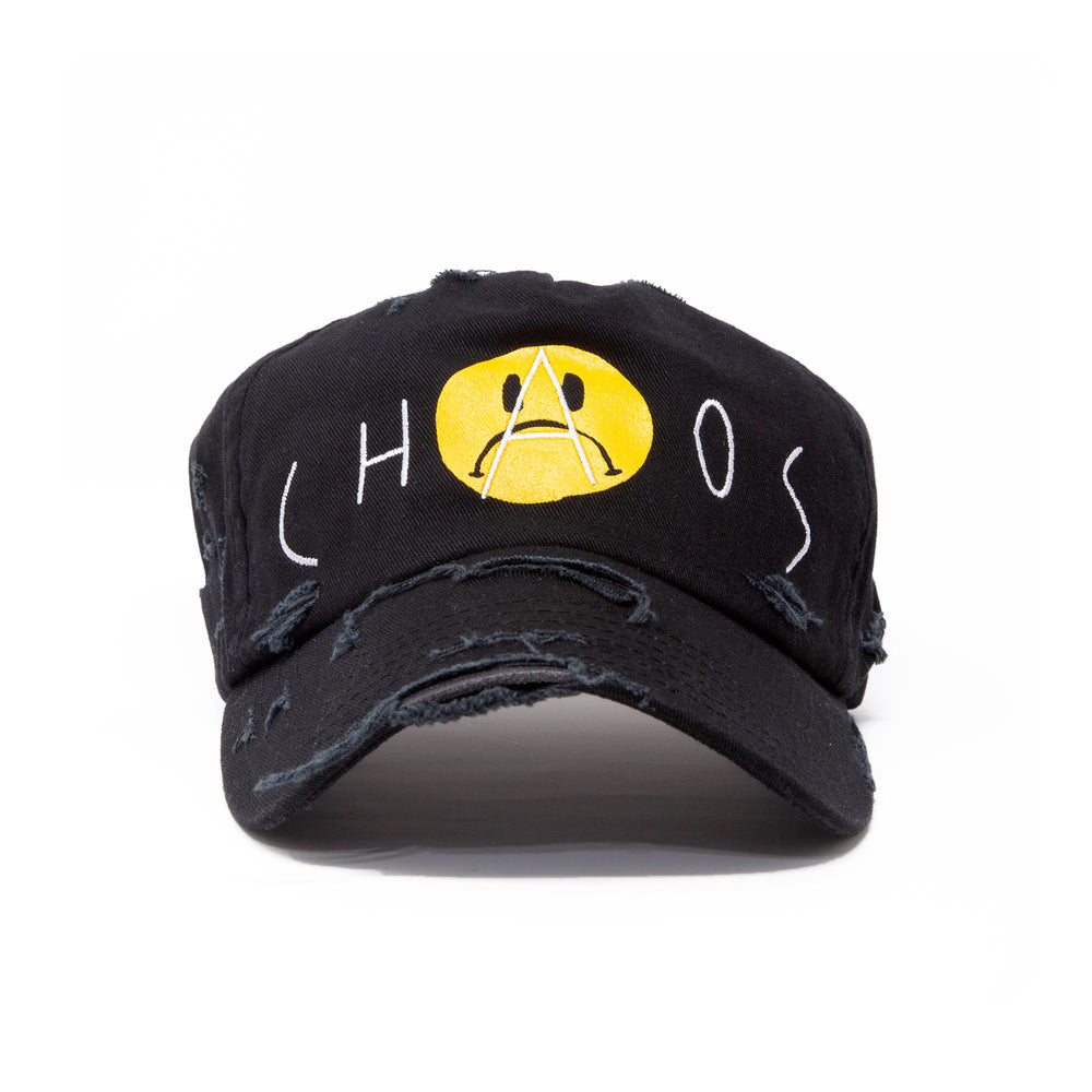 """CHAOS"" DISTRESSED CAP"