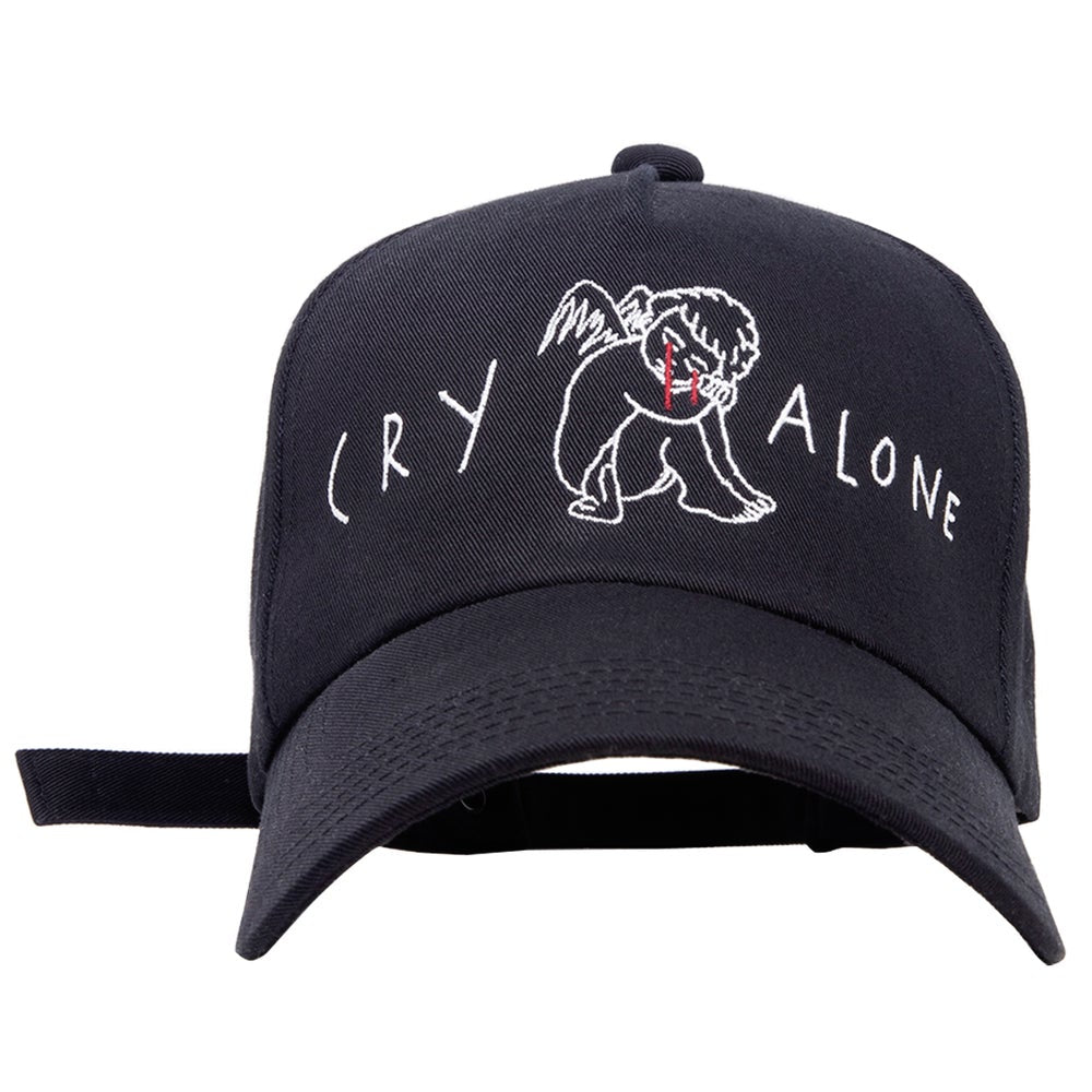CRY ALONE CAP (BLACK)