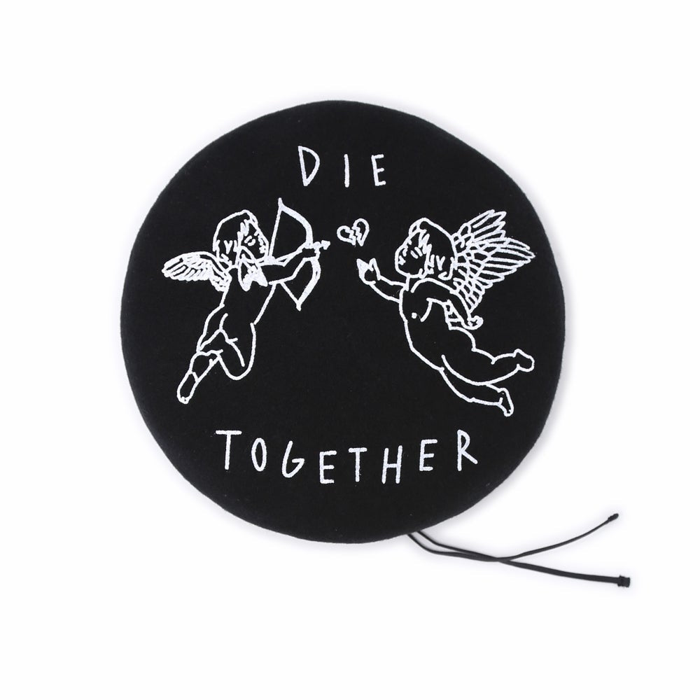 """DIE TOGETHER"" BERET (BLACK)"