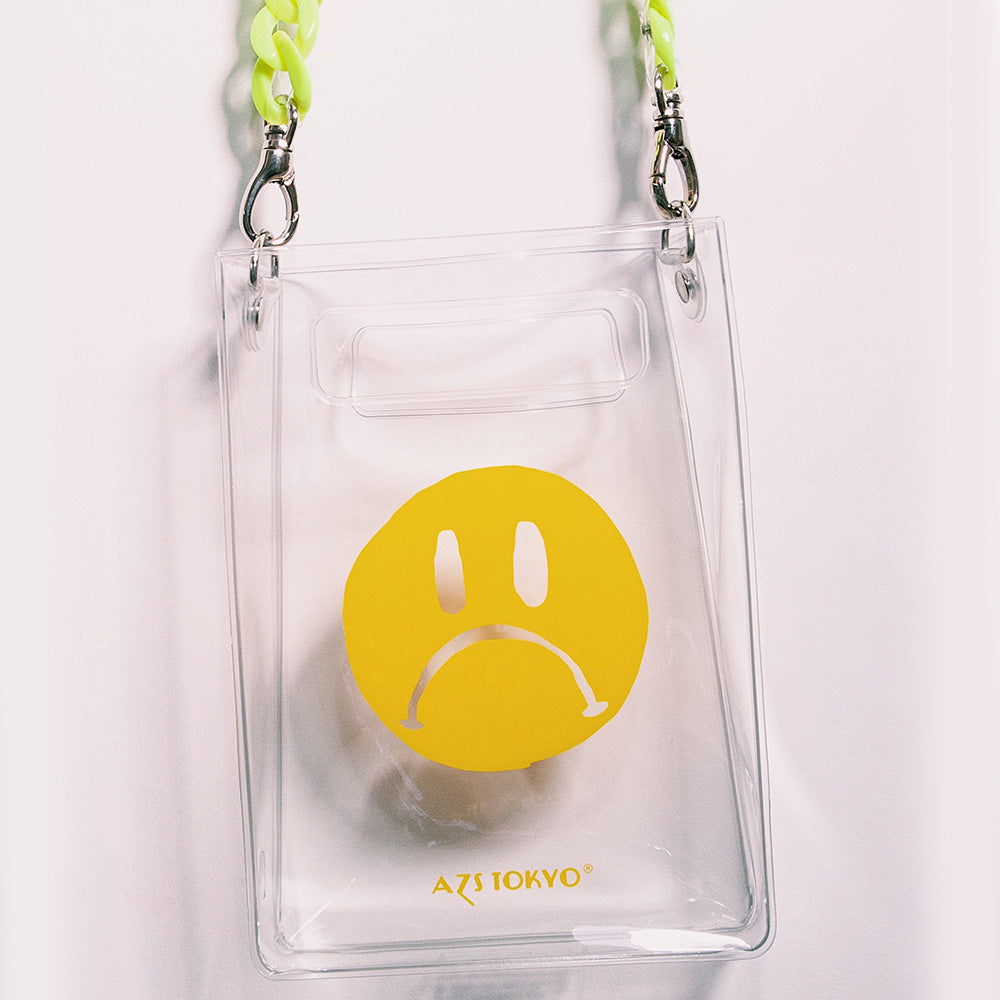 """SAD FACE"" PVC CHAIN SHOULDER BAG"