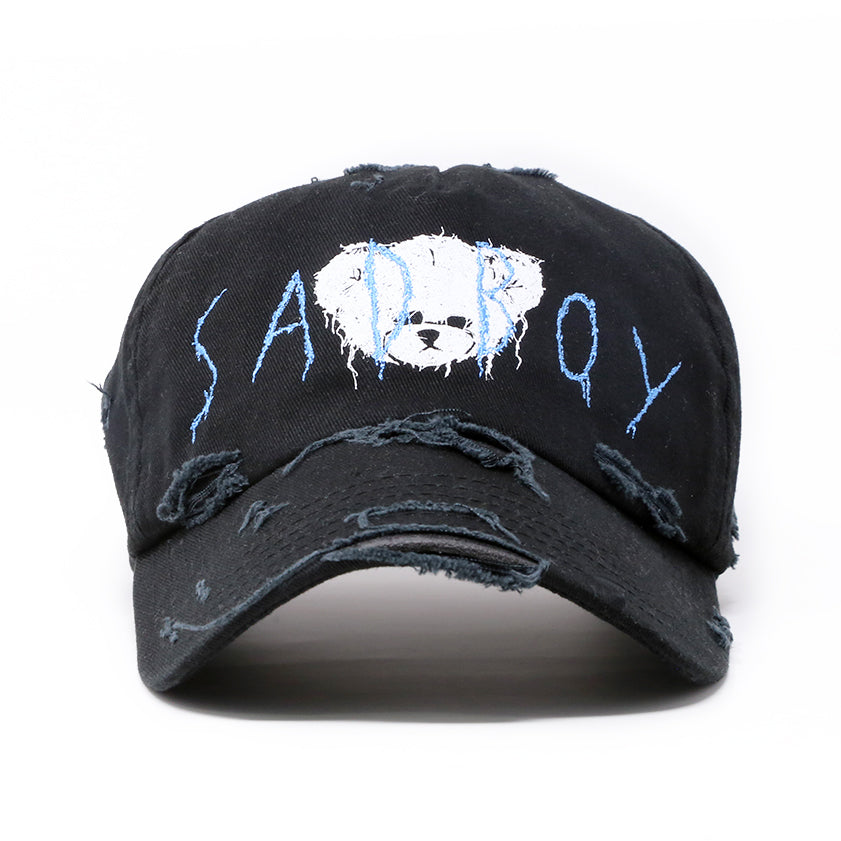 """SAD BOY"" DISTRESSED CAP"