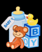 R414001 STICKER BABY SHOWER 28 X 23 CM 6 MODELOS