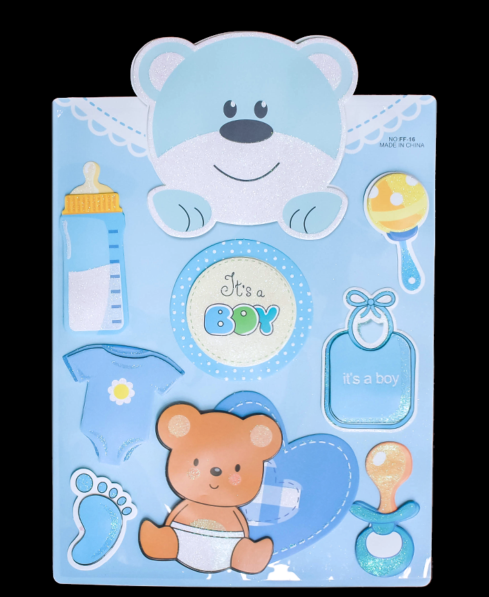 R414002 STICKER BABY SHOWER 48 X 29 CM