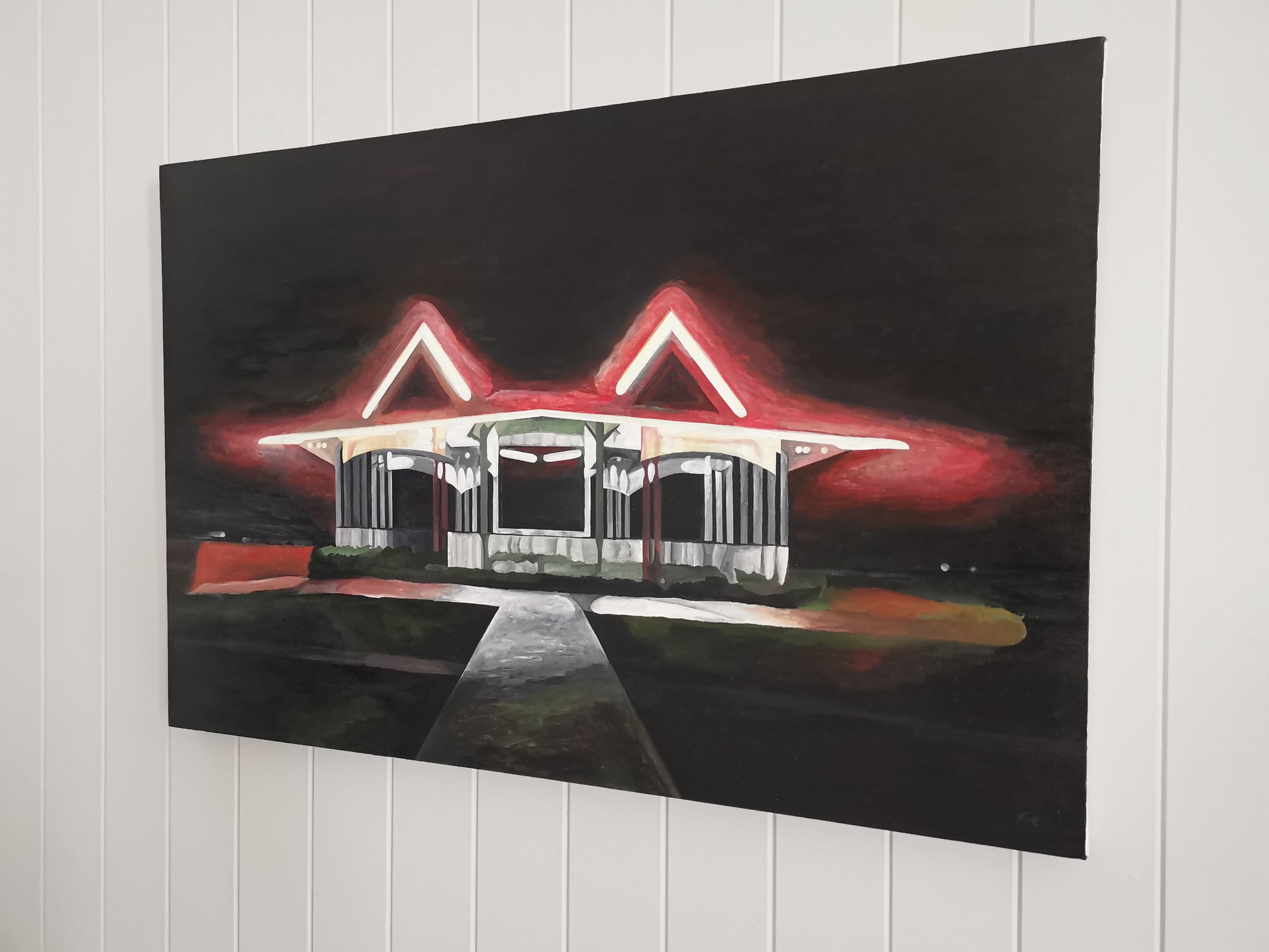 Buy unique artwork from Samir Hamaiel - affordable original artworks from emergingartists. Framed and unframed paintings, prints and art objects. In situ view