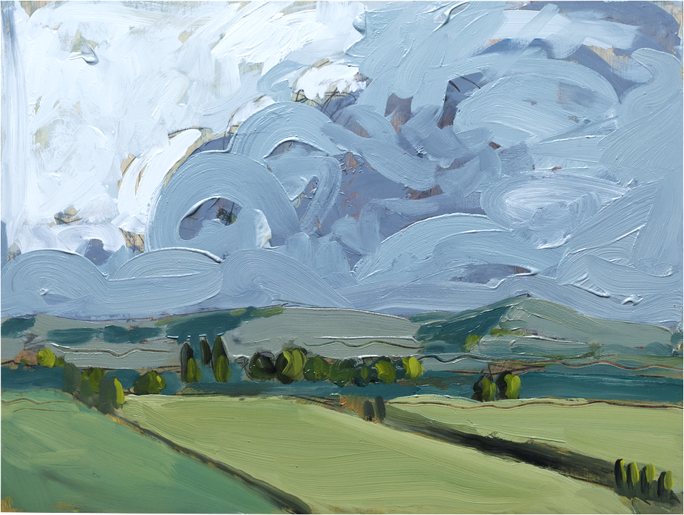 Storm rolls in near Jugiong -  original artwork by James Roberts on Art Pharmacy