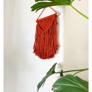 Burnt Orange Macrame Wall Hanging