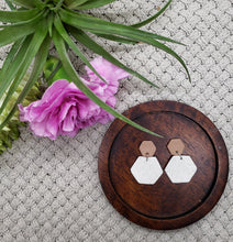 Load image into Gallery viewer, Jo Hexagon Statement Earrings