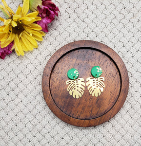 Golden Leaf Statement Earrings
