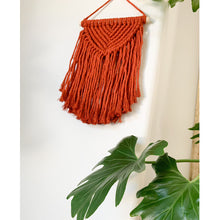 Load image into Gallery viewer, Burnt Orange Macrame Wall Hanging