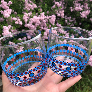 Blue & Red Small Tumblers