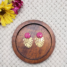 Load image into Gallery viewer, Golden Leaf Statement Earrings