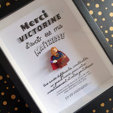 Load the image in the gallery, Lego frame gift master mistress minifigure superhero custom list children atypical touching moving customizable personalized geek Portraits of Felie superwoman