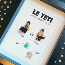 Upload the image to the gallery, Family tree in Lego minifigures customizable online, the ideal gift for a birthday, Christmas, a wedding, a birth - more than 400 bricks to discover online to create your portrait on Les Portraits de Felie