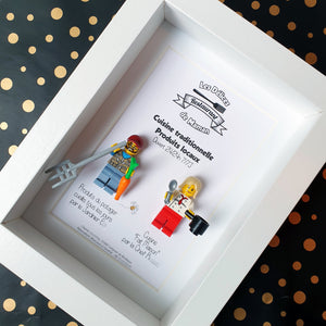 Customizable Brick Lego Portrait Frame Personalized Custom Chef Cook Good Kitchen Gardener Parents Family Meal Original Atypical Gift