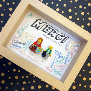 Thank you or retirement frame (nannies, nursery staff) - size 13x18cm - recommended for 1 to 5 figures